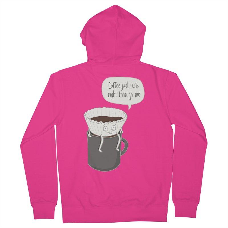 Coffee Runs Men's Zip-Up Hoody by phildesignart's Artist Shop