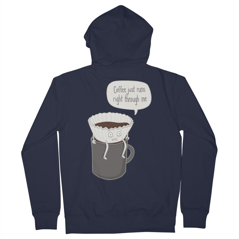 Coffee Runs Men's Zip-Up Hoody by Phildesignart
