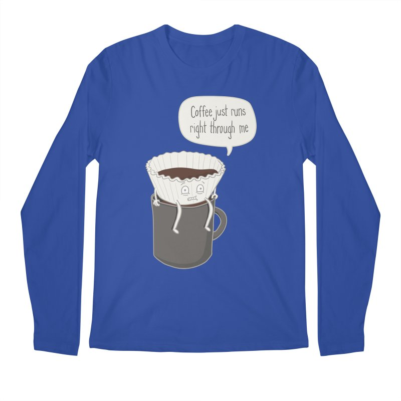 Coffee Runs Men's Regular Longsleeve T-Shirt by Phildesignart