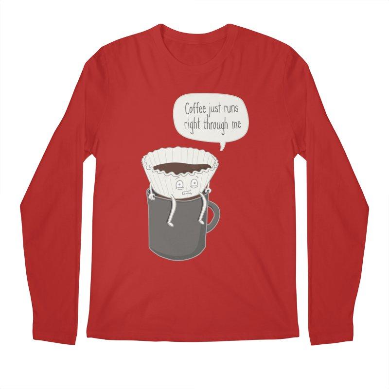 Coffee Runs Men's Longsleeve T-Shirt by phildesignart's Artist Shop