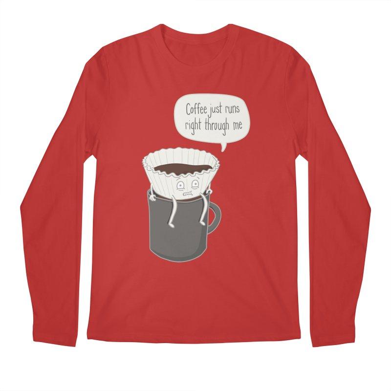 Coffee Runs Men's Longsleeve T-Shirt by Phildesignart