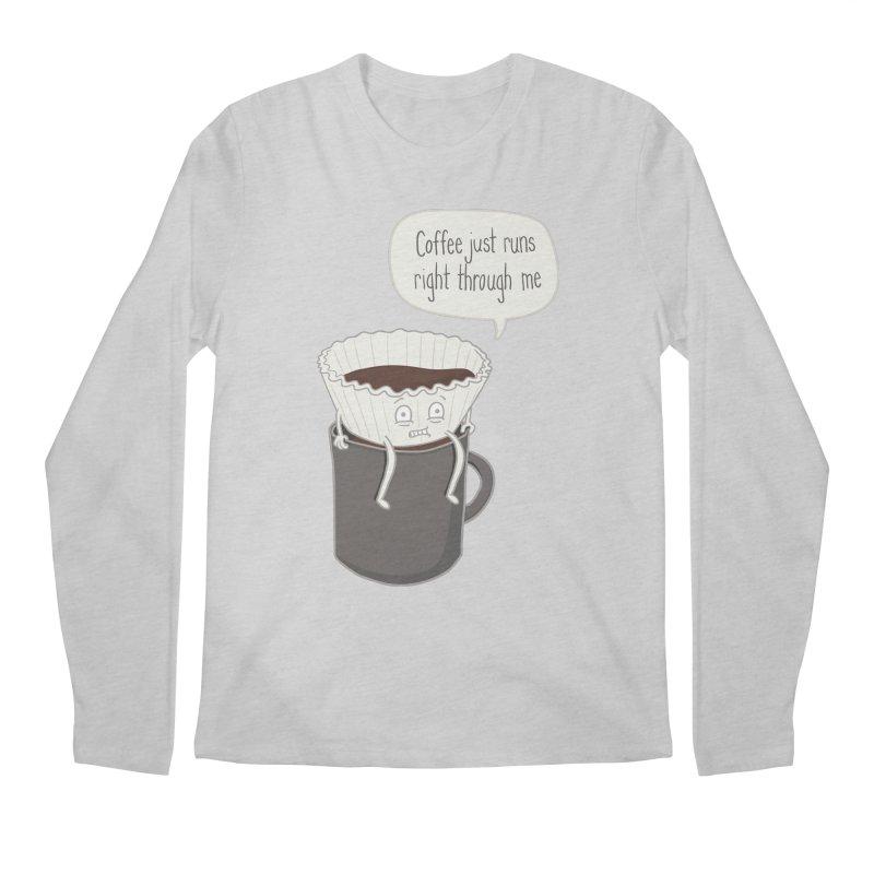 Coffee Runs Men's Regular Longsleeve T-Shirt by Phildesignart