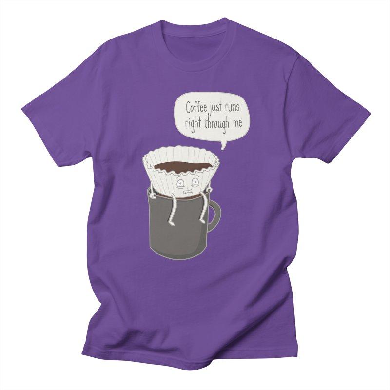 Coffee Runs Men's T-shirt by phildesignart's Artist Shop