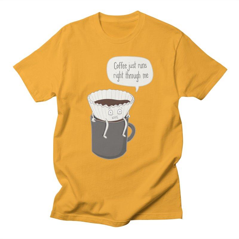 Coffee Runs Men's Regular T-Shirt by Phildesignart