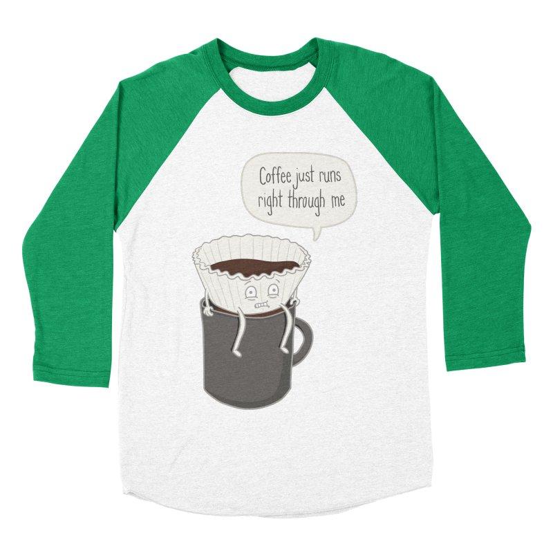 Coffee Runs Women's Baseball Triblend T-Shirt by Phildesignart