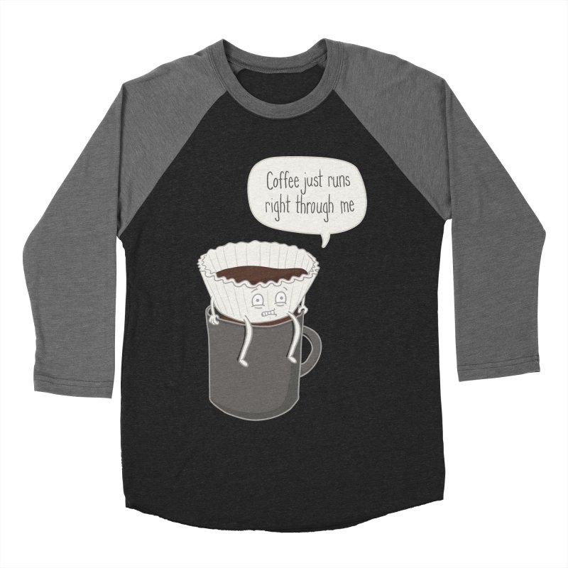 Coffee Runs Women's Baseball Triblend T-Shirt by phildesignart's Artist Shop