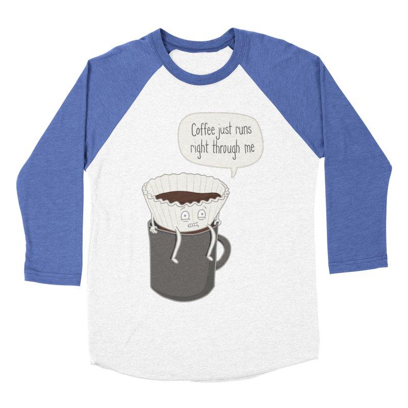 Coffee Runs Men's Baseball Triblend T-Shirt by phildesignart's Artist Shop