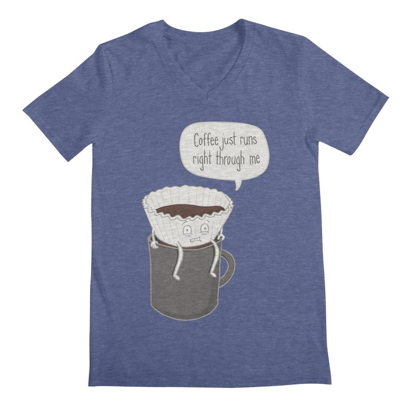 Coffee Runs Men's V-Neck by phildesignart's Artist Shop