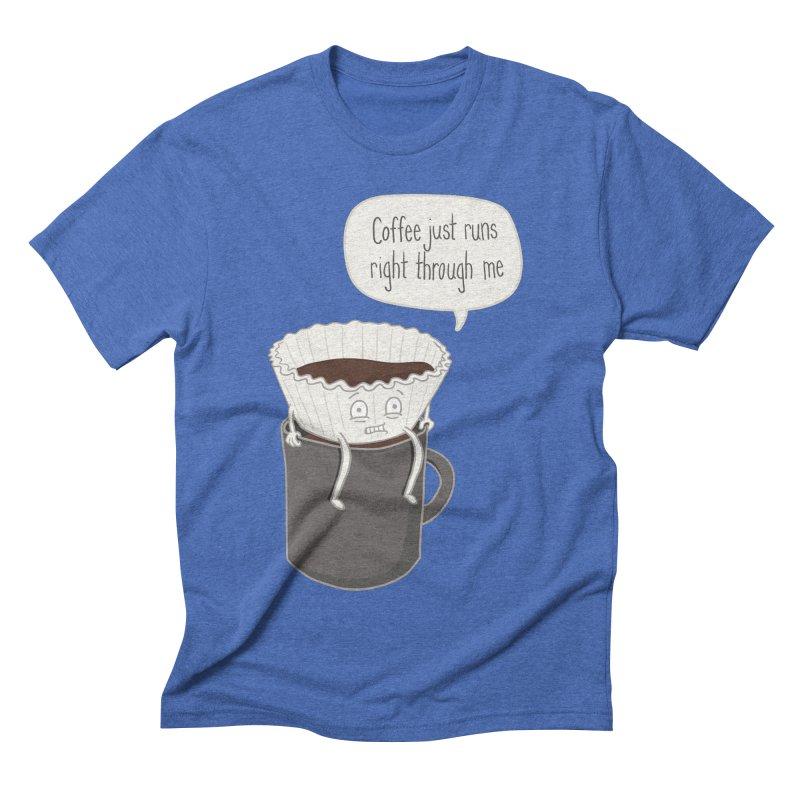 Coffee Runs Men's Triblend T-shirt by phildesignart's Artist Shop