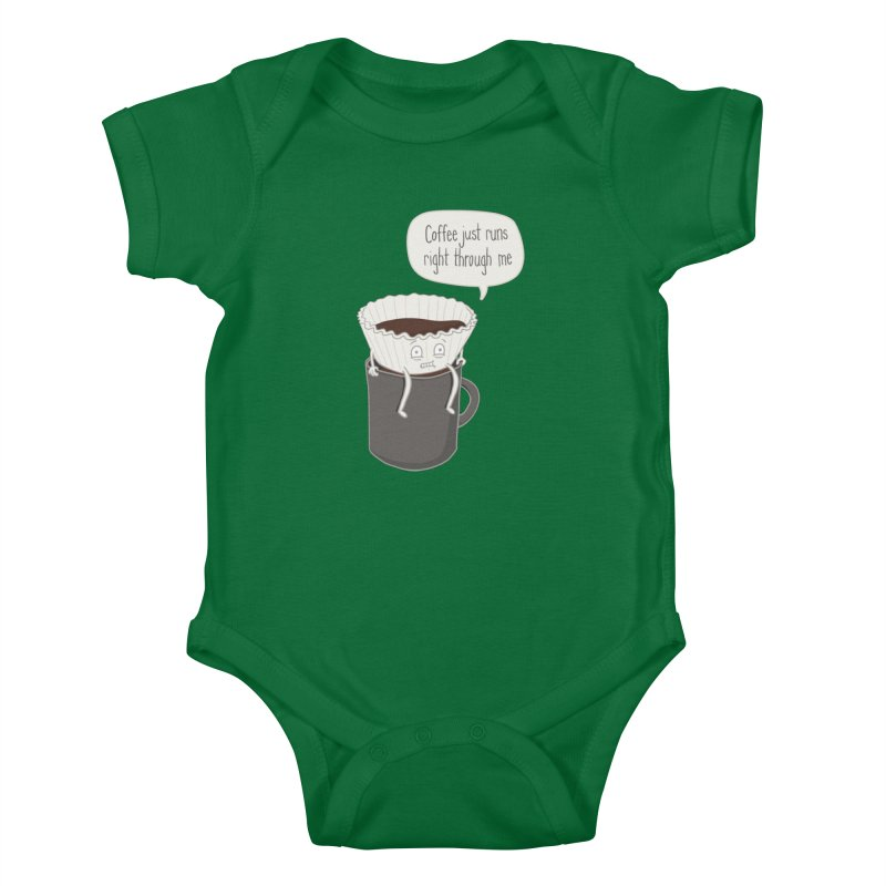 Coffee Runs Kids Baby Bodysuit by phildesignart's Artist Shop