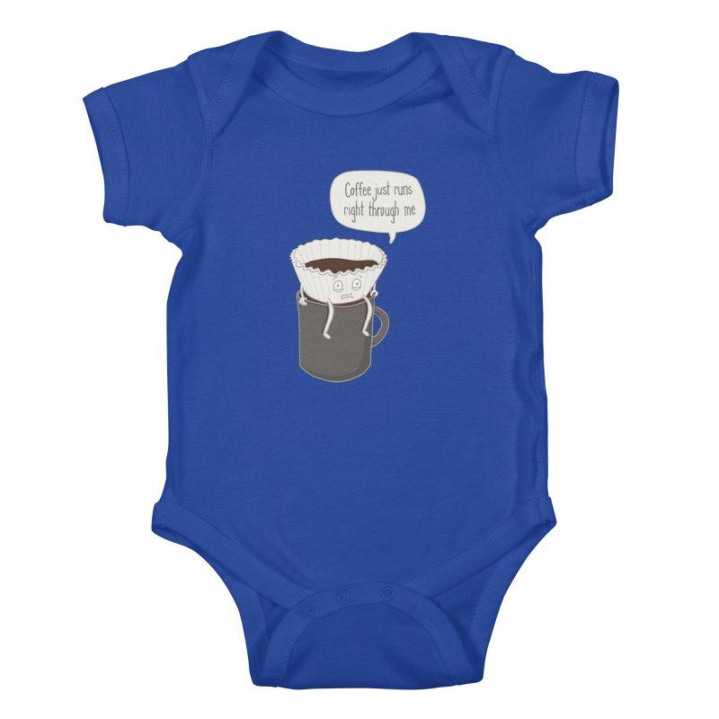 Coffee Runs Kids Baby Bodysuit by Phildesignart