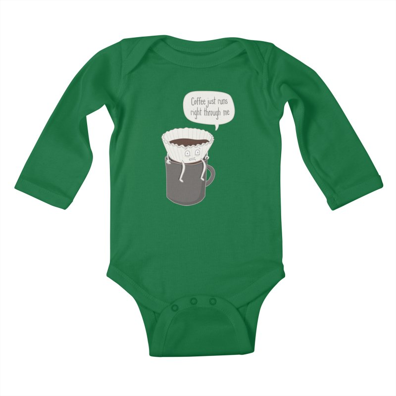Coffee Runs Kids Baby Longsleeve Bodysuit by phildesignart's Artist Shop