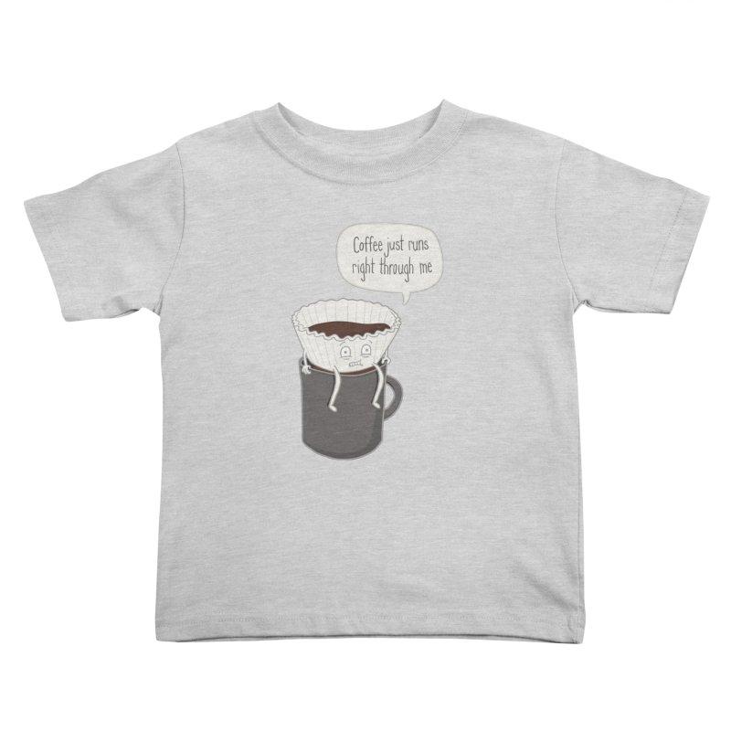 Coffee Runs Kids Toddler T-Shirt by Phildesignart