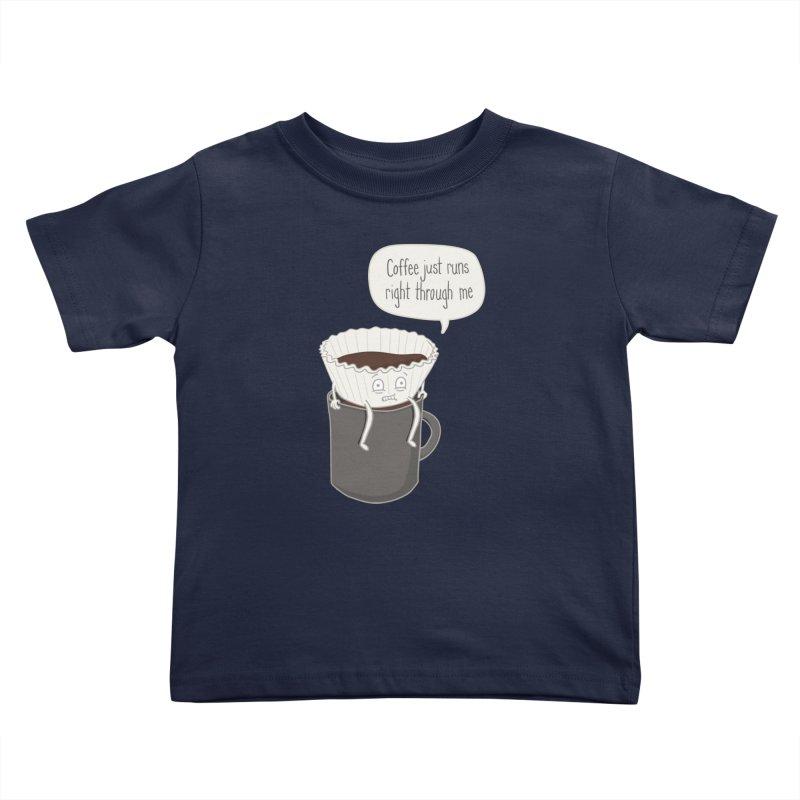 Coffee Runs Kids Toddler T-Shirt by phildesignart's Artist Shop