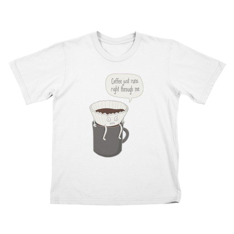 Coffee Runs Kids T-shirt by phildesignart's Artist Shop