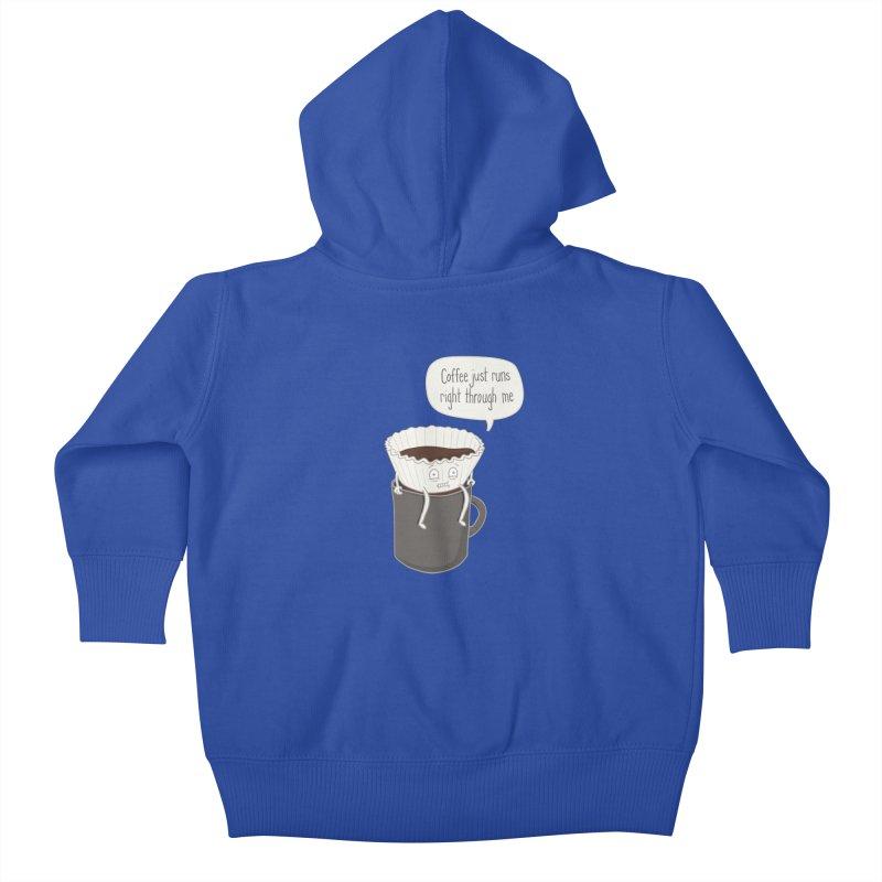 Coffee Runs Kids Baby Zip-Up Hoody by phildesignart's Artist Shop