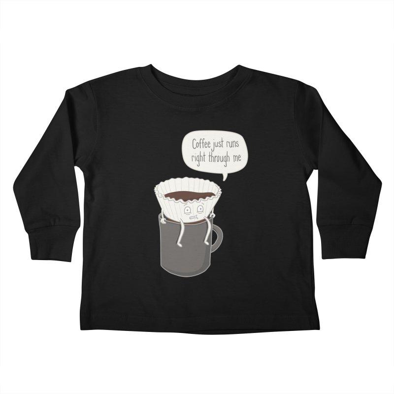 Coffee Runs Kids Toddler Longsleeve T-Shirt by Phildesignart
