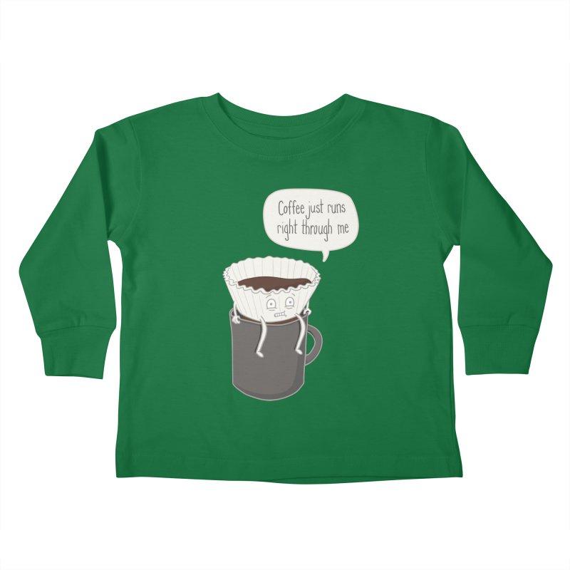 Coffee Runs Kids Toddler Longsleeve T-Shirt by phildesignart's Artist Shop