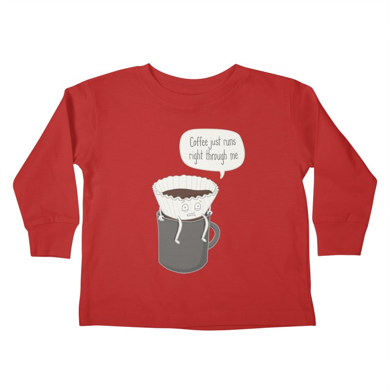 Coffee Runs Kids Toddler Longsleeve T-Shirt by phildesignart's Artist Shop