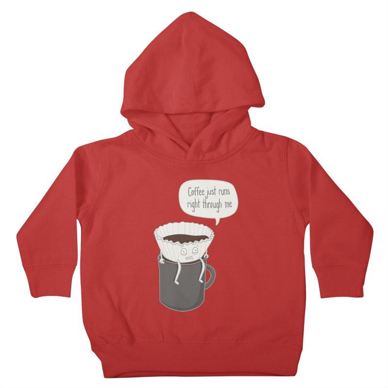Coffee Runs Kids Toddler Pullover Hoody by phildesignart's Artist Shop