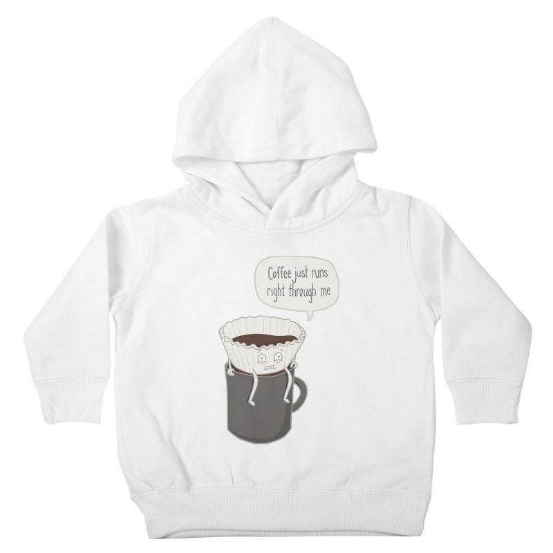 Coffee Runs Kids Toddler Pullover Hoody by Phildesignart