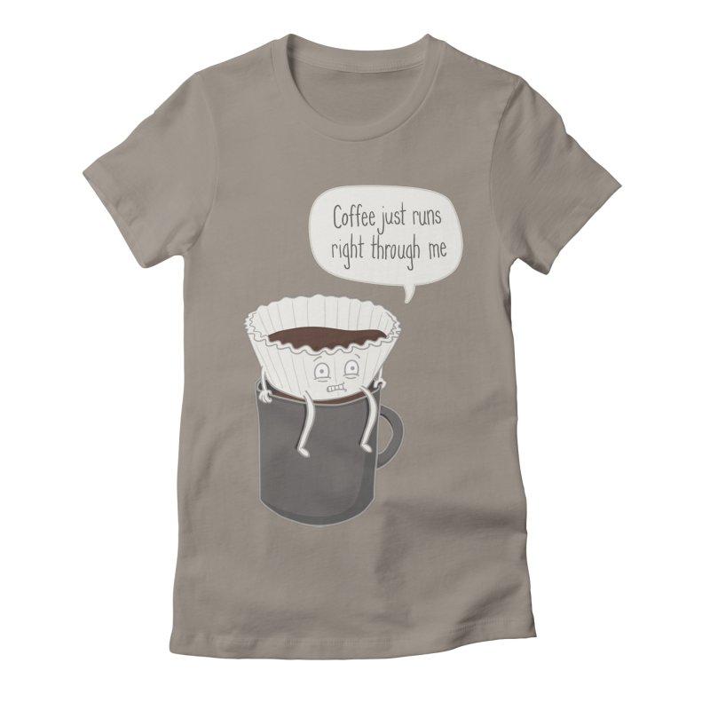 Coffee Runs Women's Fitted T-Shirt by Phildesignart