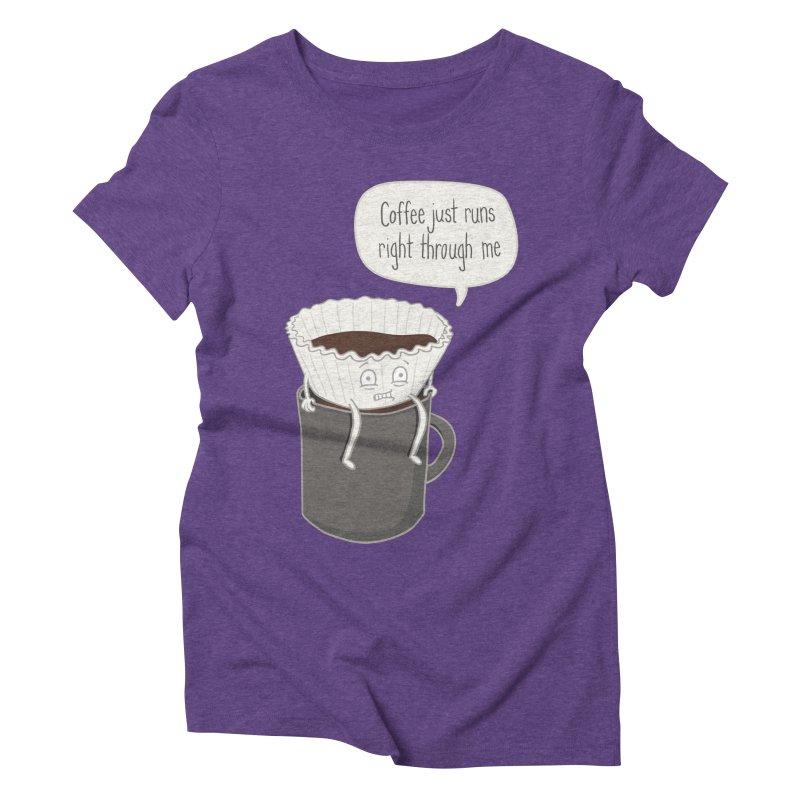 Coffee Runs Women's Triblend T-Shirt by Phildesignart