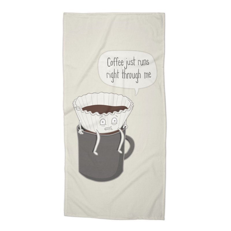 Coffee Runs Accessories Beach Towel by Phildesignart