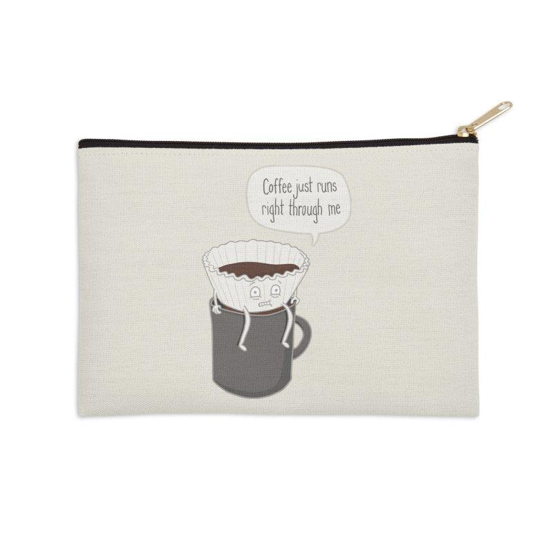 Coffee Runs Accessories Zip Pouch by phildesignart's Artist Shop