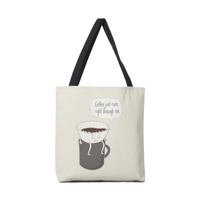 Coffee Runs Accessories Bag by Phildesignart