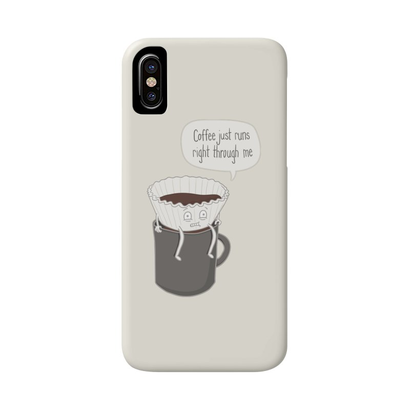 Coffee Runs Accessories Phone Case by Phildesignart