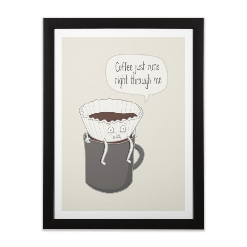Coffee Runs Home Framed Fine Art Print by Phildesignart