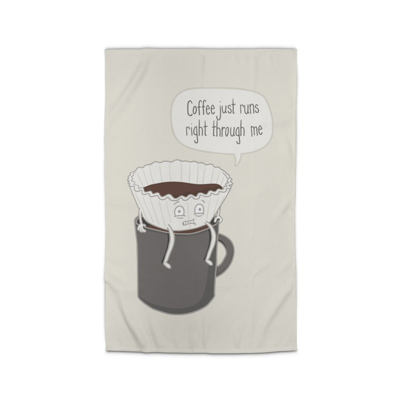 Coffee Runs Home Rug by Phildesignart
