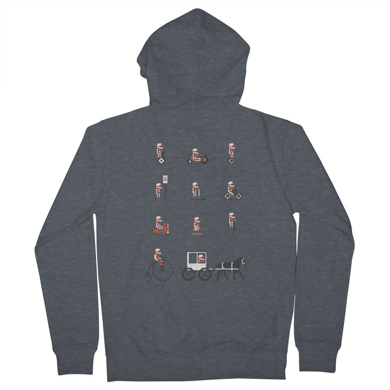 Not As Exciting Men's French Terry Zip-Up Hoody by Phildesignart