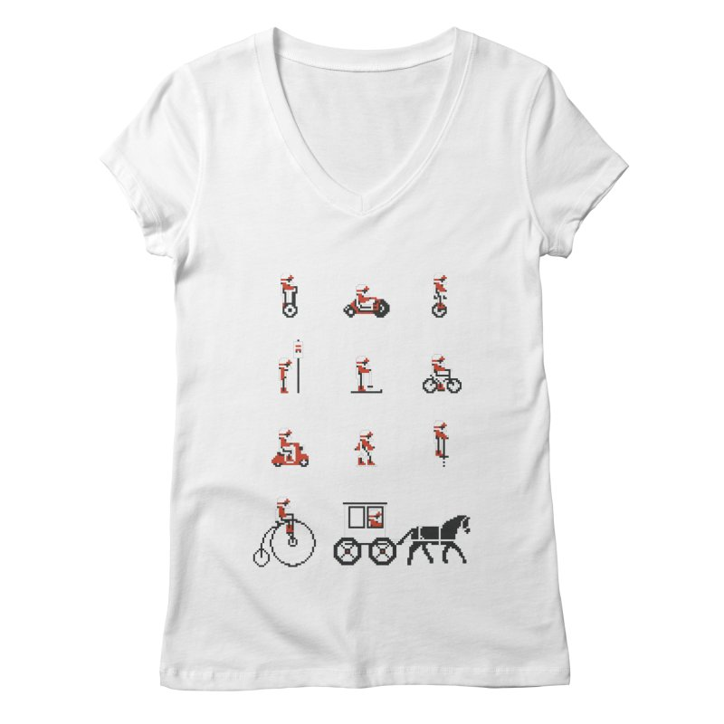 Not As Exciting Women's V-Neck by Phildesignart