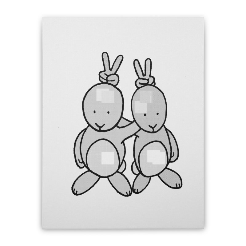 Bunny Ears Home Stretched Canvas by Phildesignart