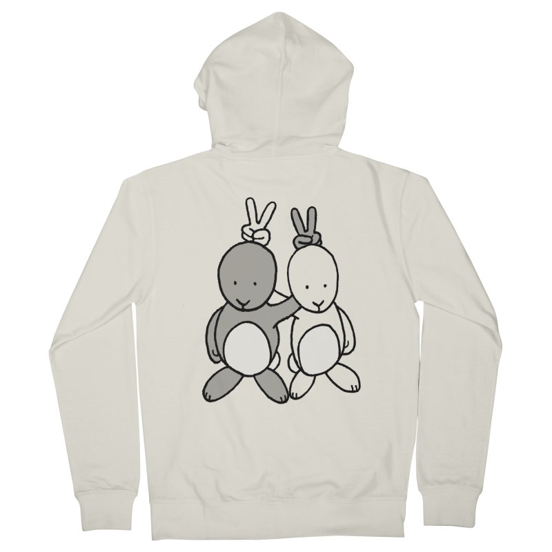 Bunny Ears Men's Zip-Up Hoody by phildesignart's Artist Shop