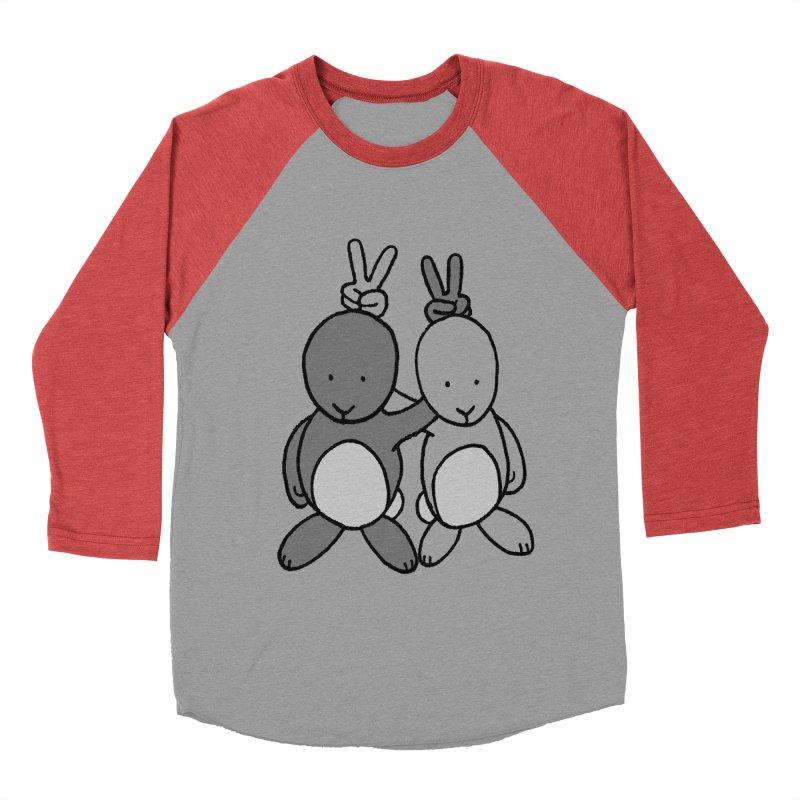 Bunny Ears Men's Baseball Triblend T-Shirt by phildesignart's Artist Shop