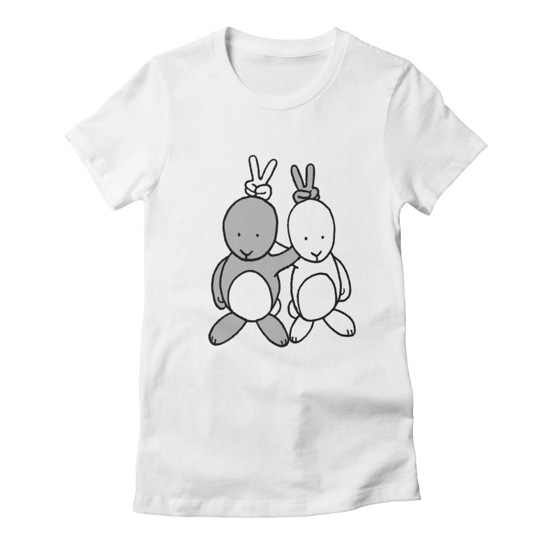 Bunny Ears Women's Fitted T-Shirt by phildesignart's Artist Shop