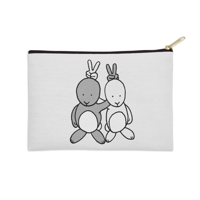 Bunny Ears Accessories Zip Pouch by phildesignart's Artist Shop