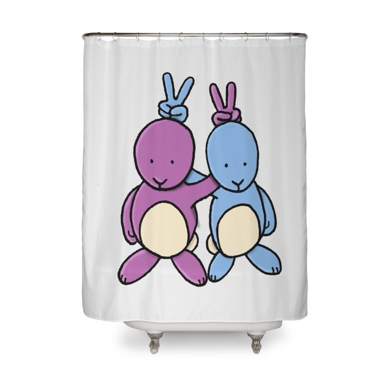 Bunny Ears Home Shower Curtain by Phildesignart