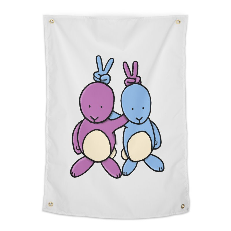 Bunny Ears Home Tapestry by Phildesignart