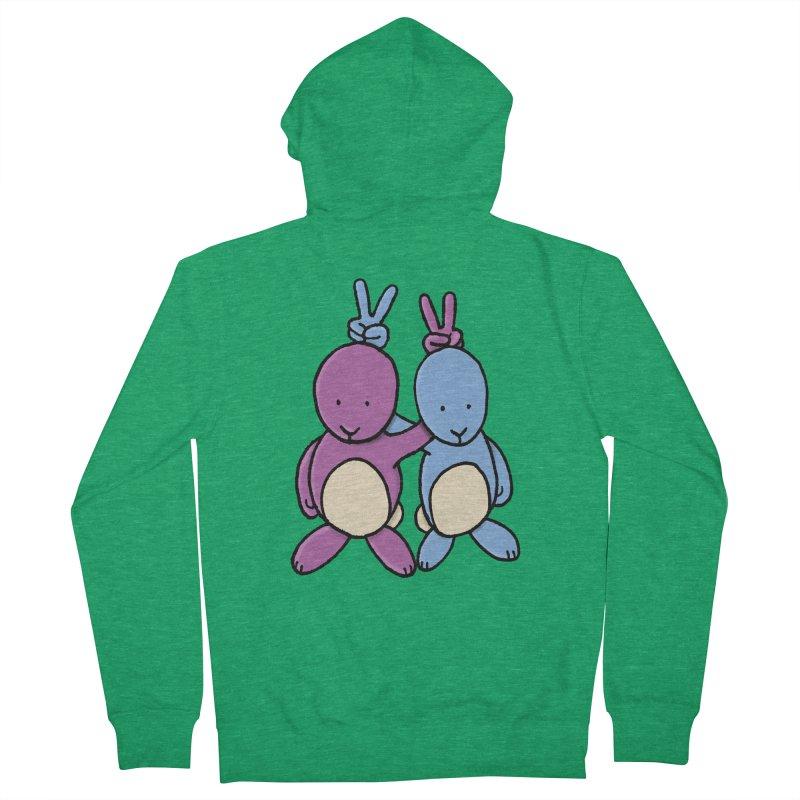 Bunny Ears Men's Zip-Up Hoody by Phildesignart