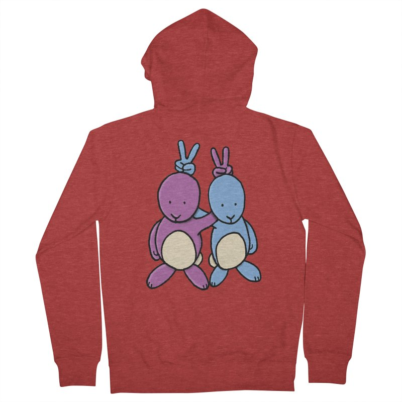 Bunny Ears Men's French Terry Zip-Up Hoody by Phildesignart