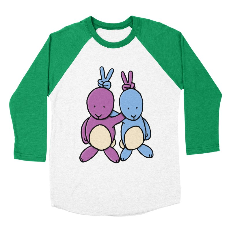 Bunny Ears Women's Baseball Triblend Longsleeve T-Shirt by Phildesignart