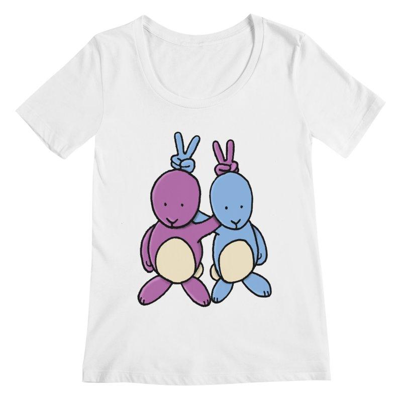 Bunny Ears Women's Regular Scoop Neck by Phildesignart