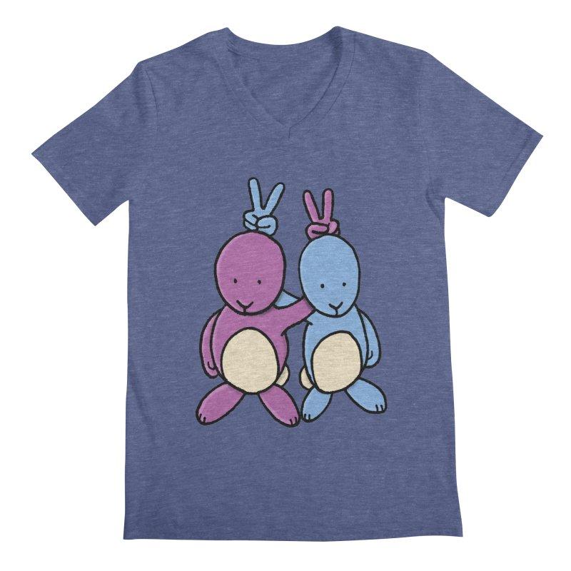 Bunny Ears Men's Regular V-Neck by Phildesignart