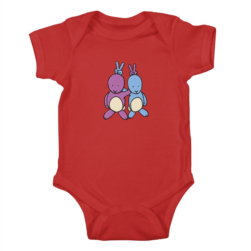 Bunny Ears Kids Baby Bodysuit by Phildesignart