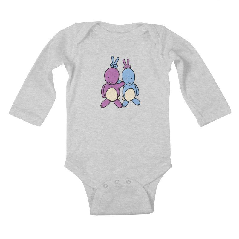 Bunny Ears Kids Baby Longsleeve Bodysuit by phildesignart's Artist Shop