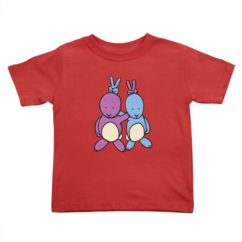Bunny Ears Kids Toddler T-Shirt by Phildesignart
